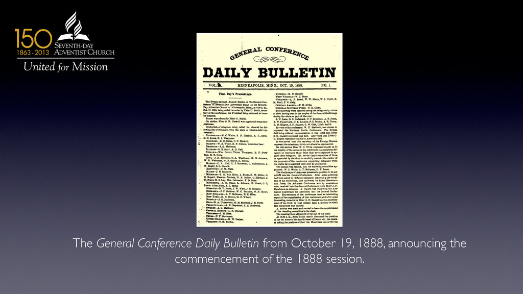 The General Conference Daily Bulletin from Octo...