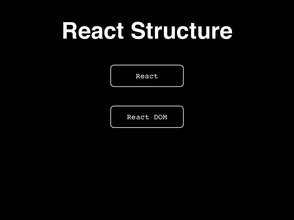 React Structure React React Native React DOM