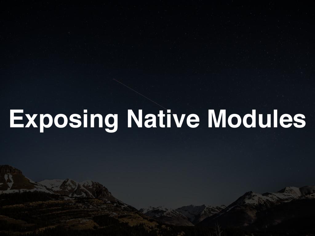 Exposing Native Modules