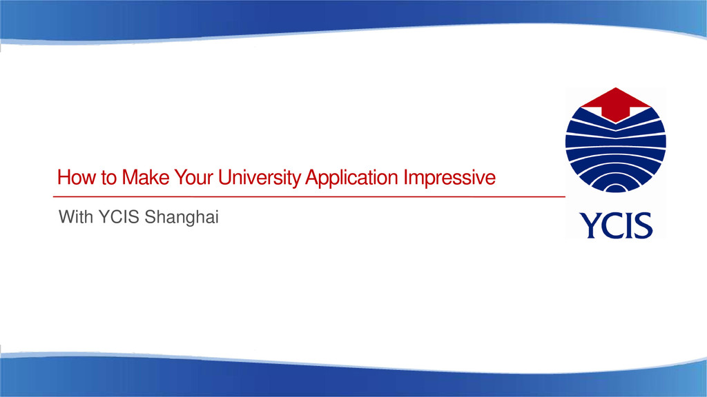 How to Make Your University Application Impress...