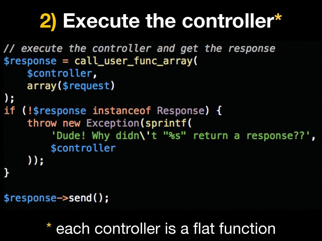 2) Execute the controller* * each controller is...