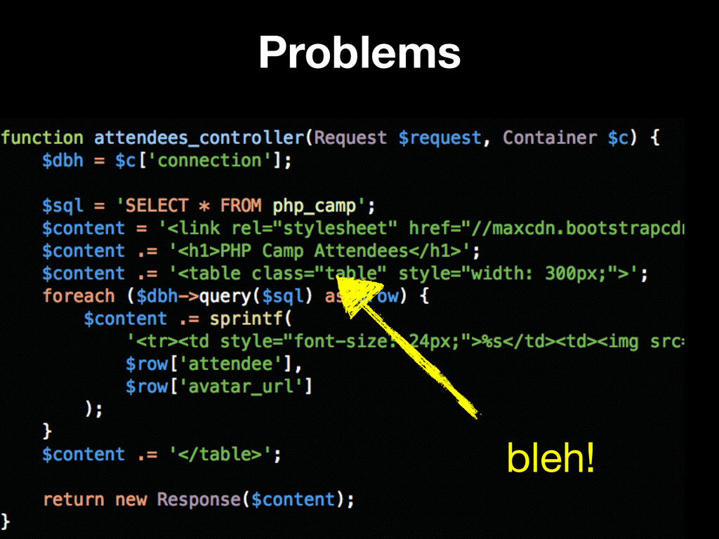 Problems @weaverryan bleh!