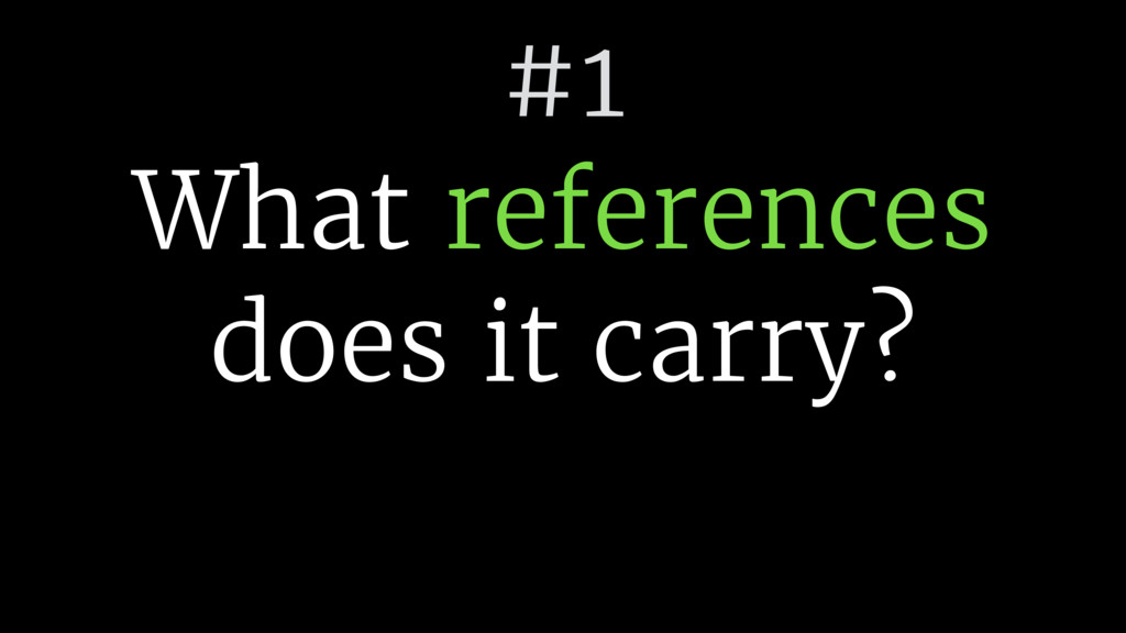 #1 What references 