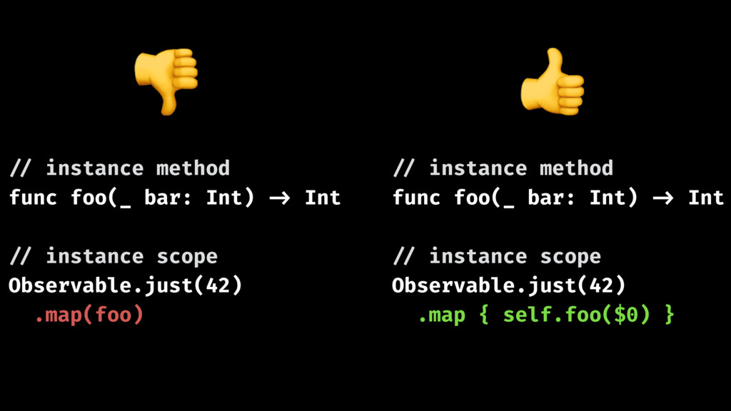 !// instance method func foo(_ bar: Int) !-> In...