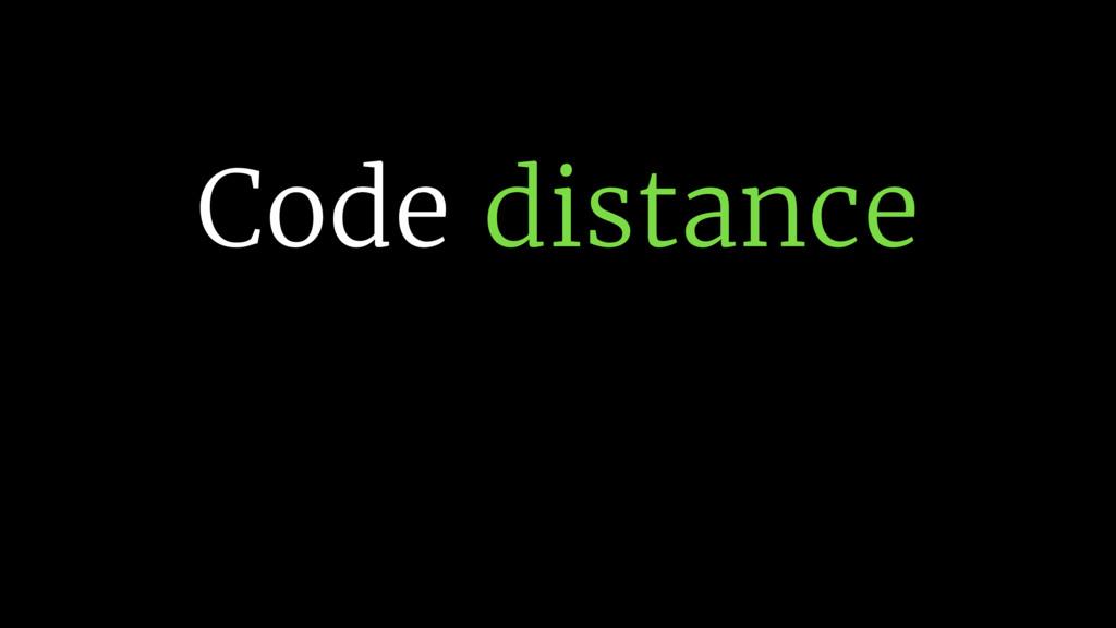 Code distance