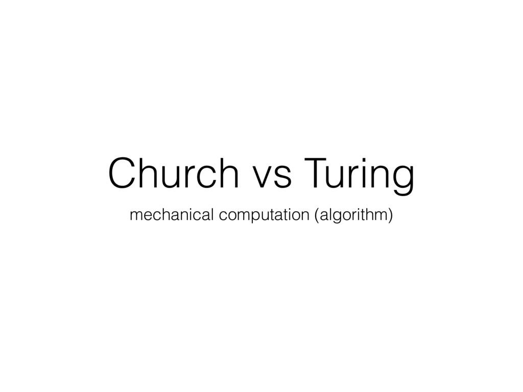 Church vs Turing mechanical computation (algori...