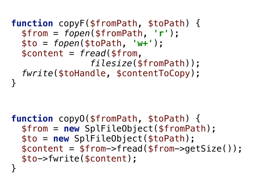 function copyF($fromPath, $toPath) { $from = f...