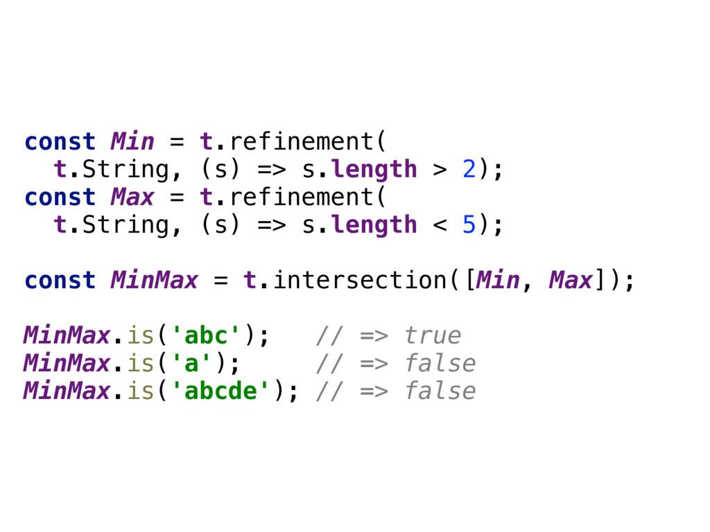 const Min = t.refinement( t.String, (s) => s.l...