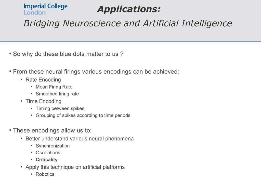 Applications: Bridging Neuroscience and Artific...