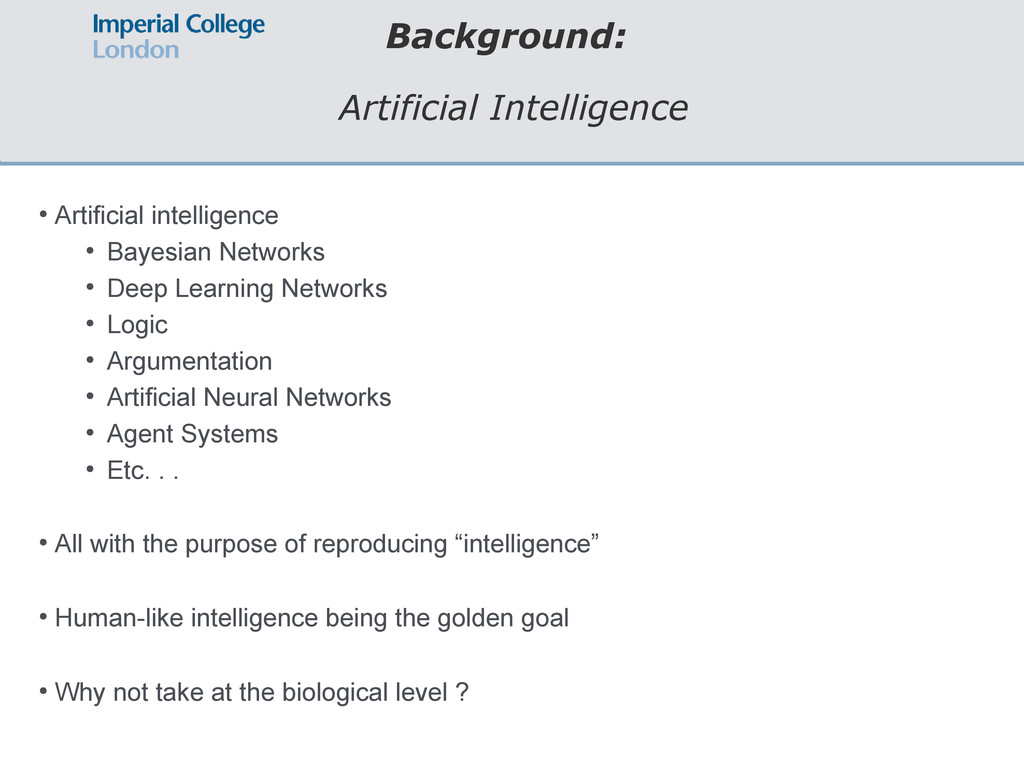 Background: Artificial Intelligence ● Artificia...