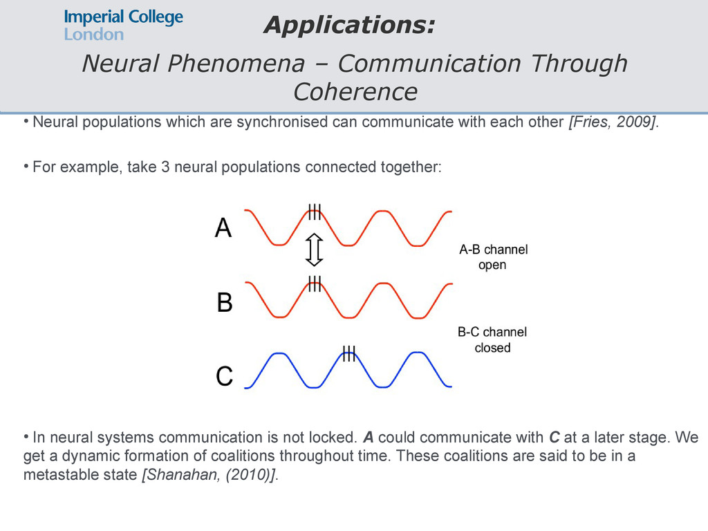 Applications: Neural Phenomena – Communication ...