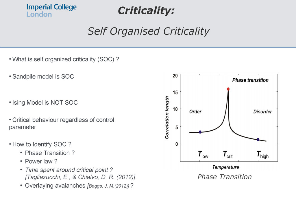 Criticality: Self Organised Criticality ● What ...