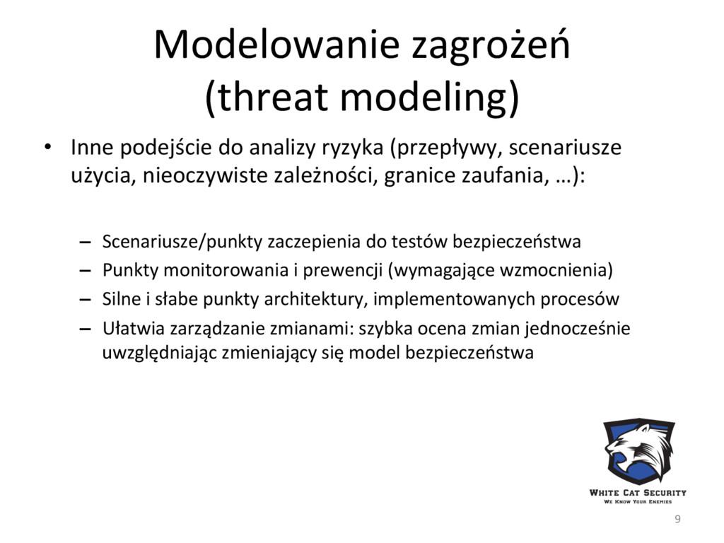 Modelowanie zagrożeń  (threat modeling...
