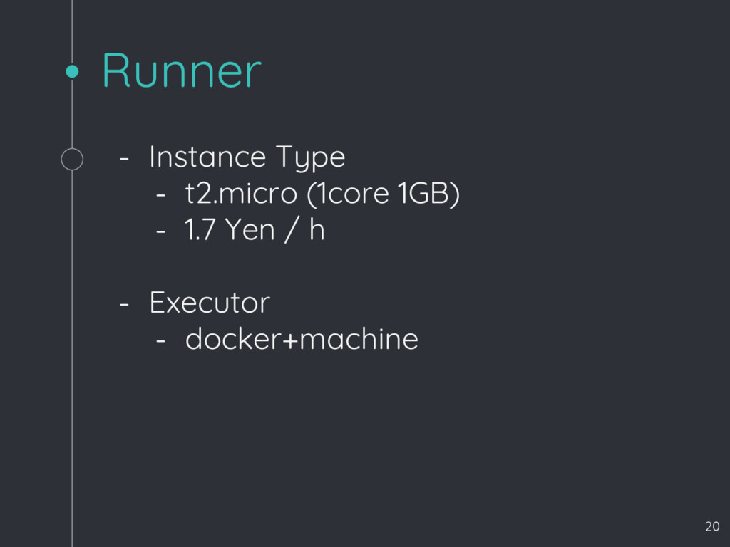 Runner - Instance Type - t2.micro (1core 1GB) -...