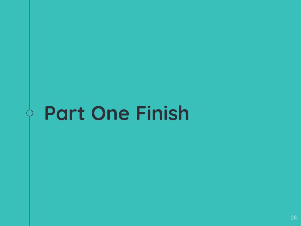 Part One Finish 28