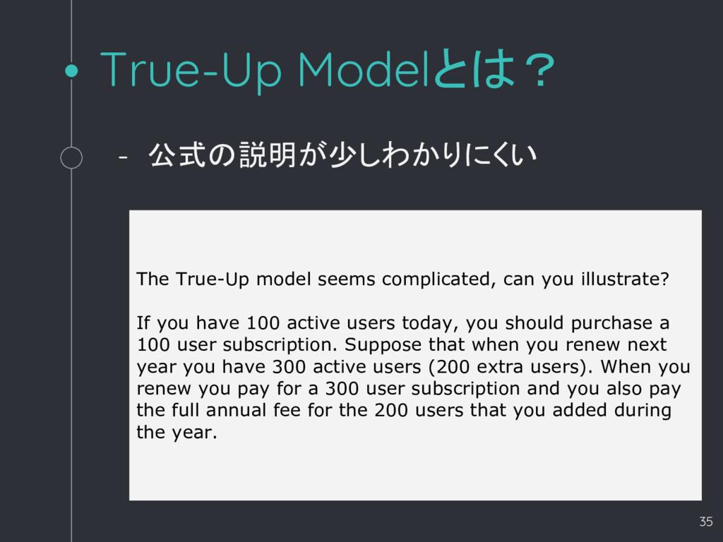 True-Up Modelとは? - 公式の説明が少しわかりにくい 35 The True-U...