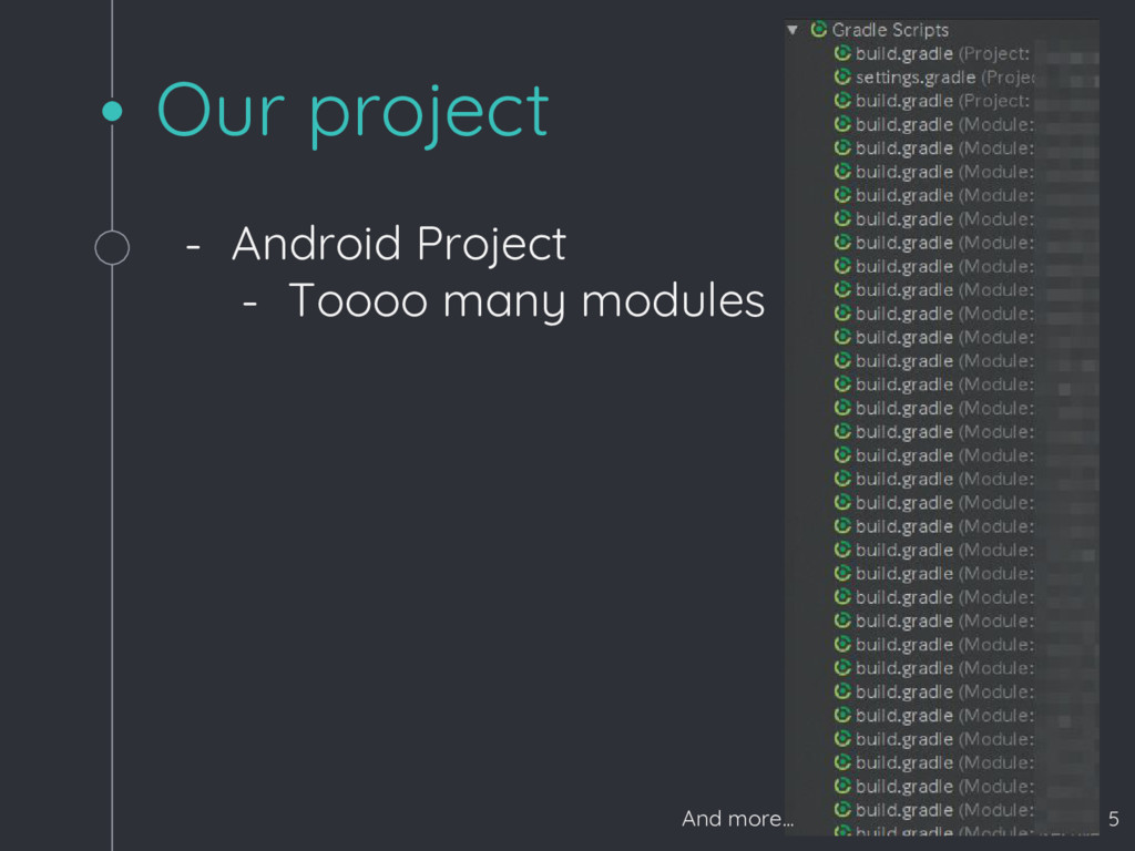 Our project - Android Project - Toooo many modu...