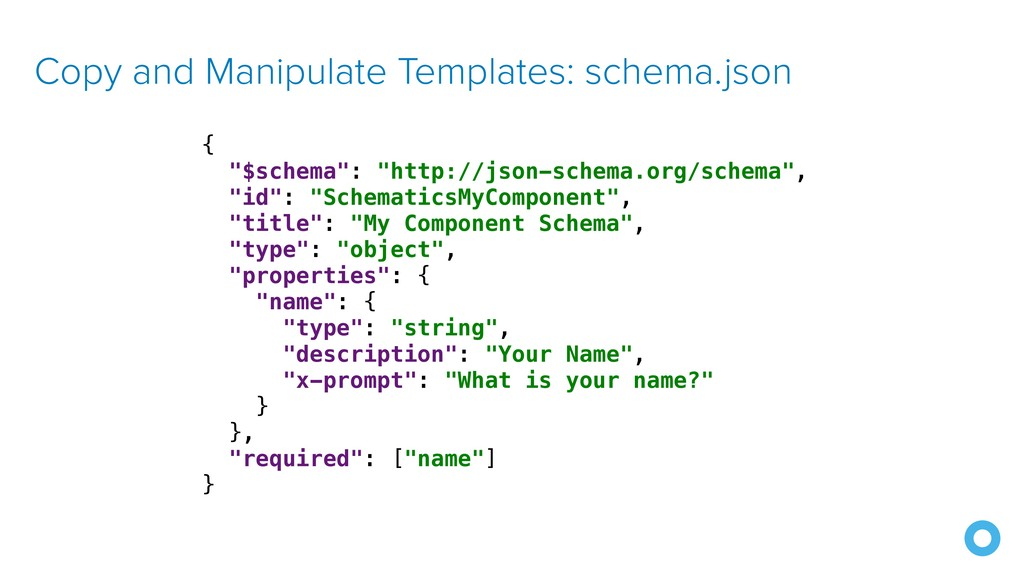 "Copy and Manipulate Templates: schema.json { ""$..."