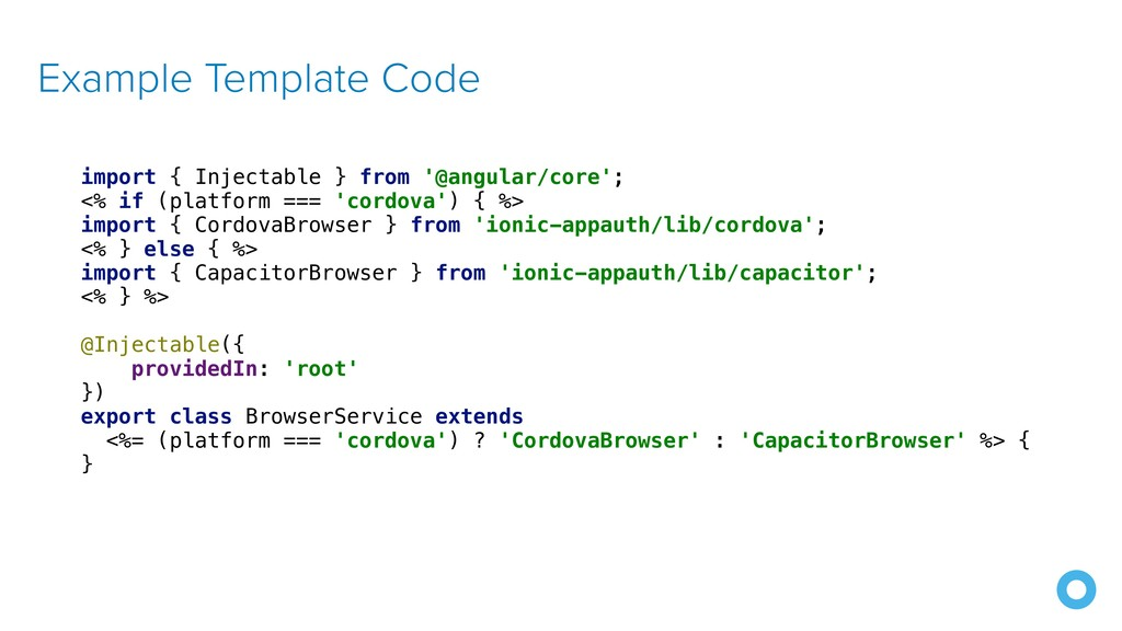 Example Template Code import { Injectable } fro...