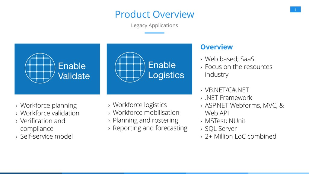Product Overview 2 Legacy Applications › Workfo...