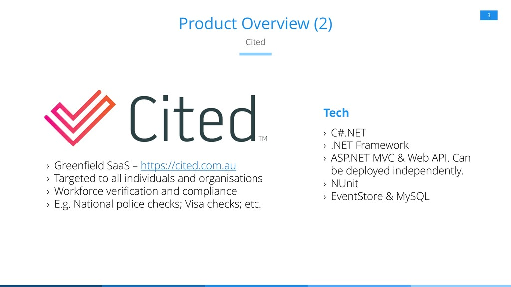 Product Overview (2) 3 Cited Tech › Greenfield ...