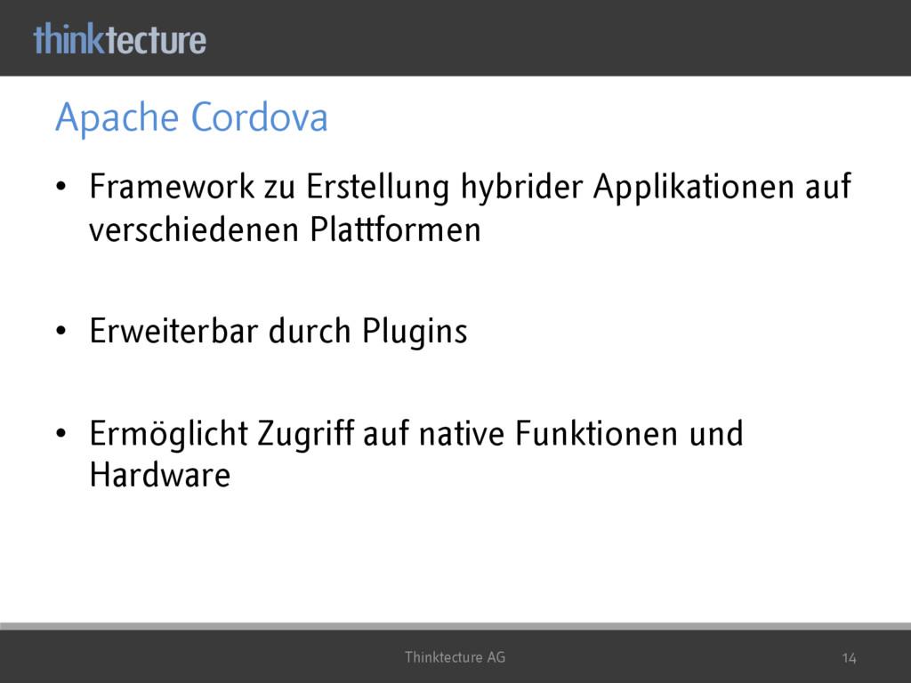 Apache Cordova • Framework zu Erstellung hybrid...