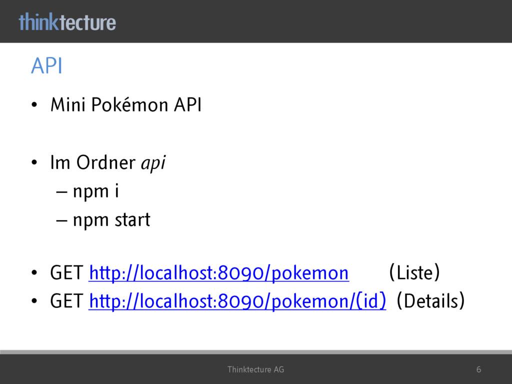 API • Mini Pokémon API • Im Ordner api – npm i ...