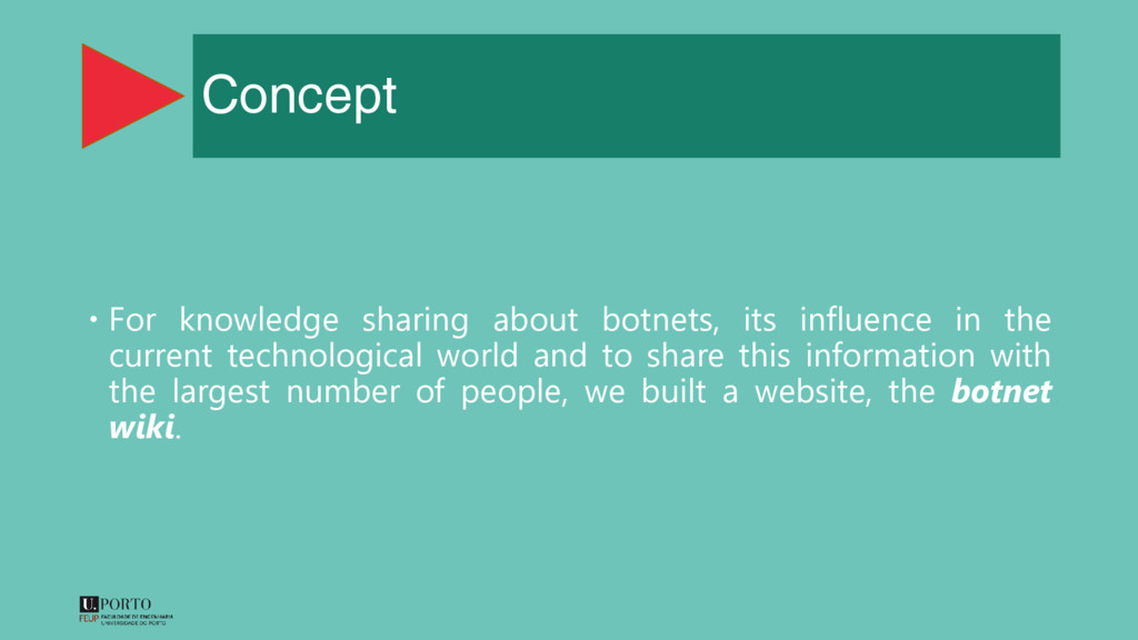 Concept  For knowledge sharing about botnets, ...