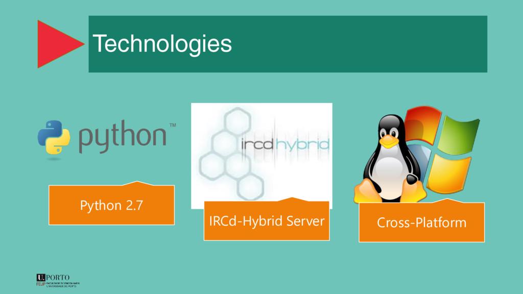 Technologies Python 2.7 IRCd-Hybrid Server Cros...