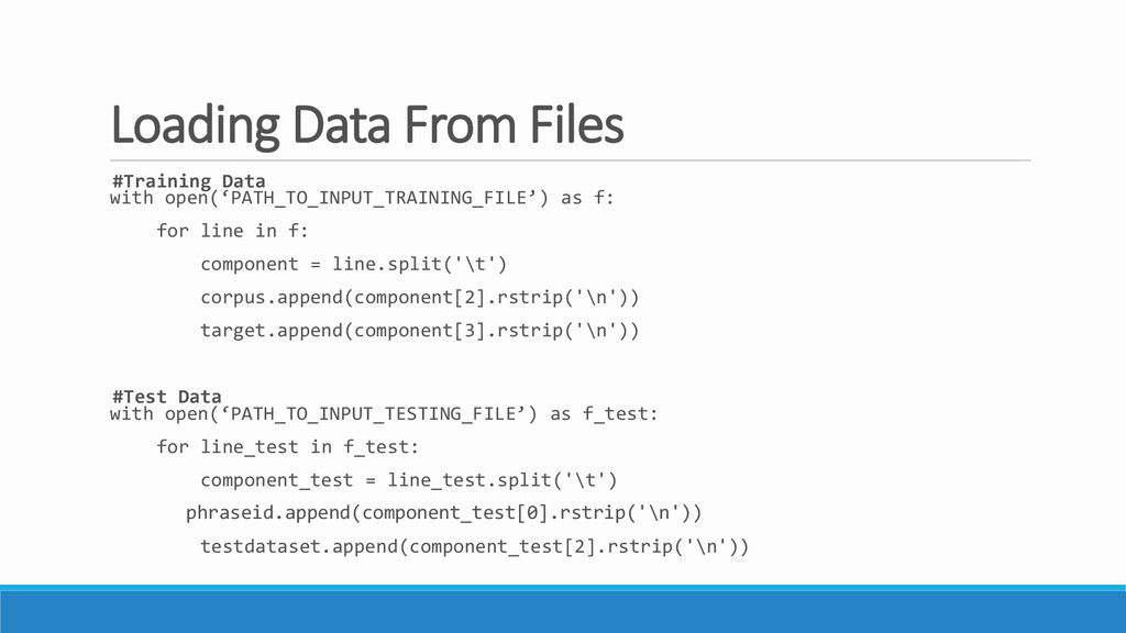 Loading Data From Files #Training Data with ope...