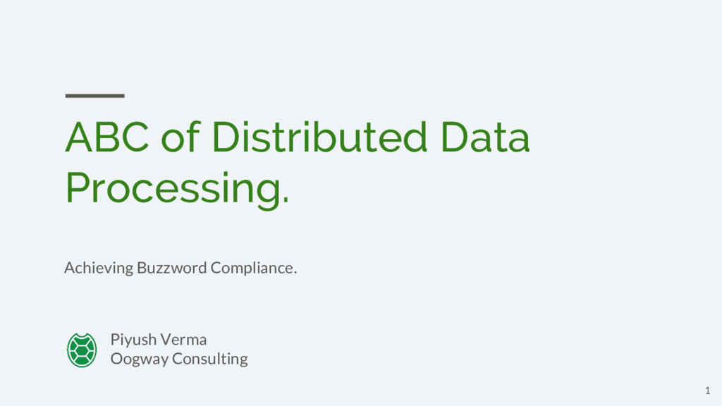 ABC of Distributed Data Processing. Achieving B...