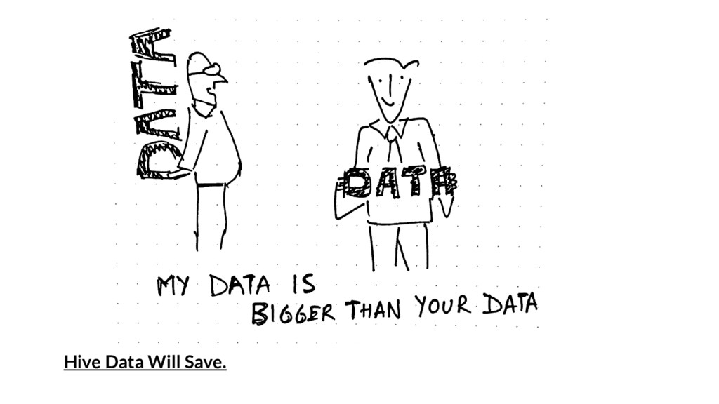 Hive Data Will Save.