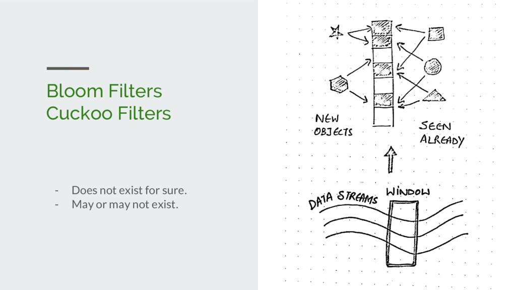 Bloom Filters Cuckoo Filters - Does not exist f...