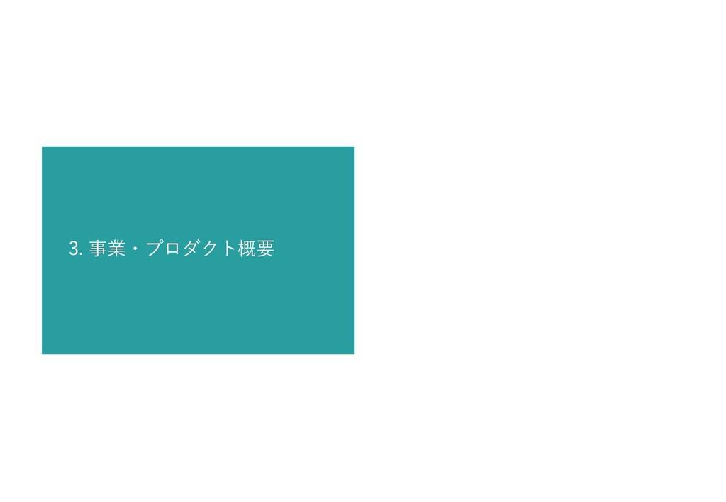 3. 事業・プロダクト概要