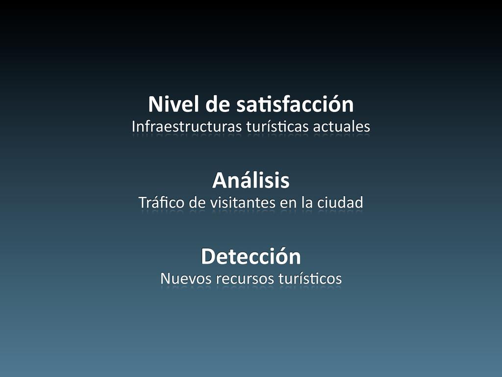 Nivel de sa5sfacción Infraestructuras ...