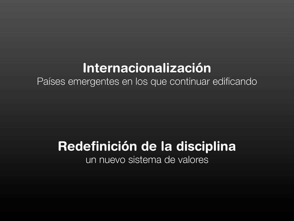 Internacionalización Países emergentes en los q...