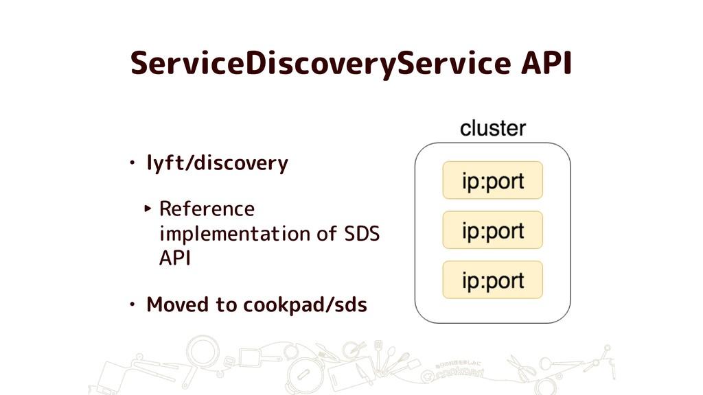 ServiceDiscoveryService API • lyft/discovery ‣ ...