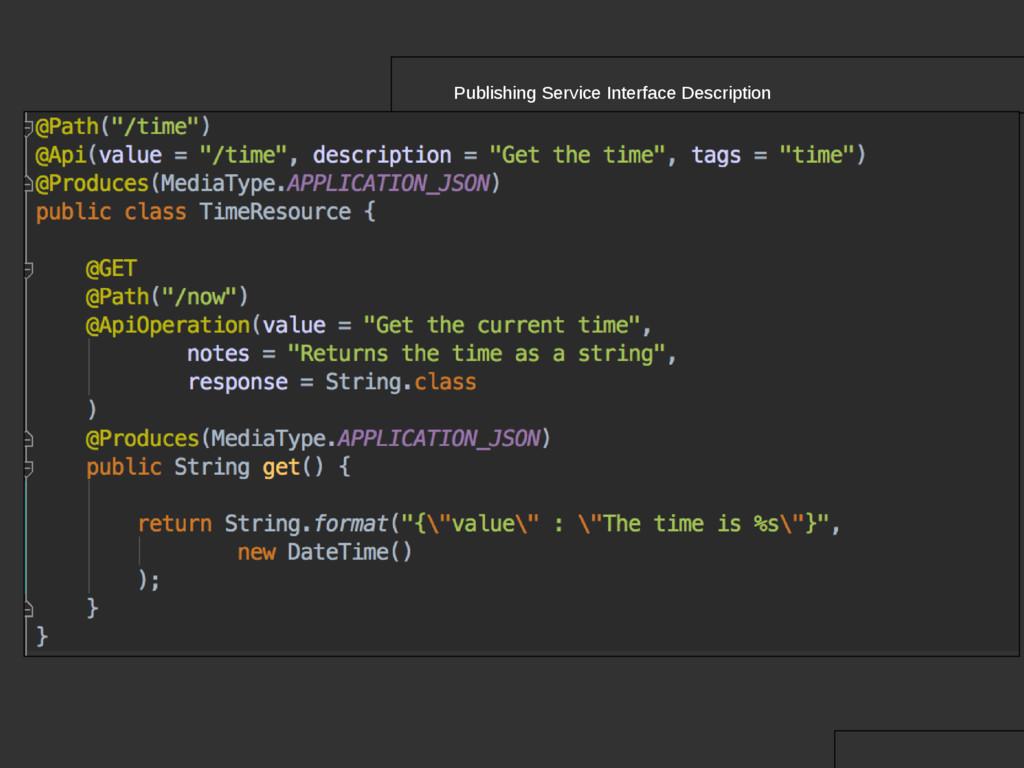 Publishing Service Interface Description