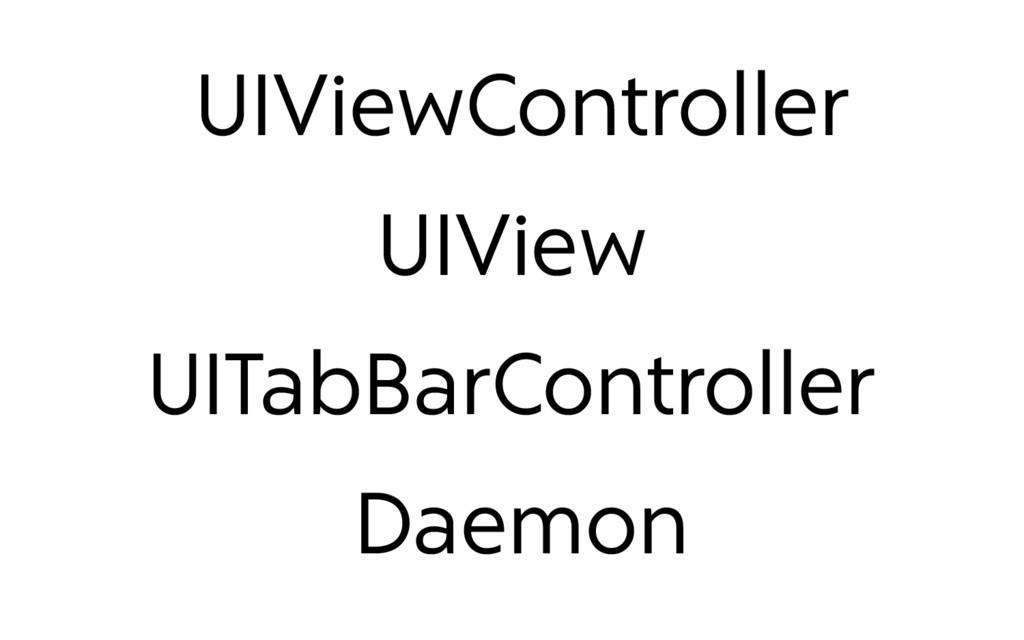 UIViewController UIView UITabBarController Daem...