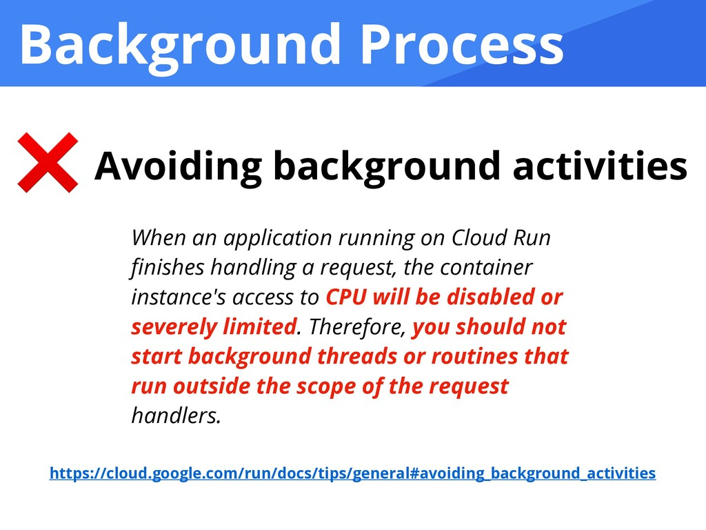 Background Process ❌ Avoiding background activi...