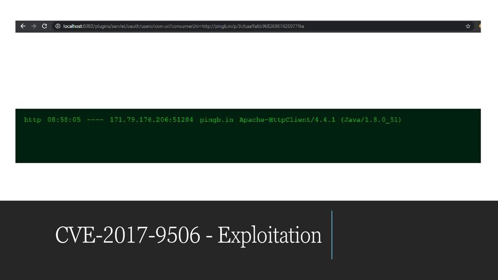 CVE-2017-9506 - Exploitation