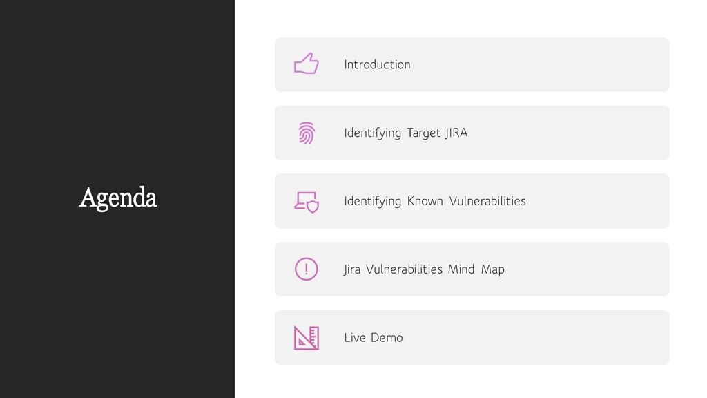 Agenda Introduction Identifying Target JIRA Ide...