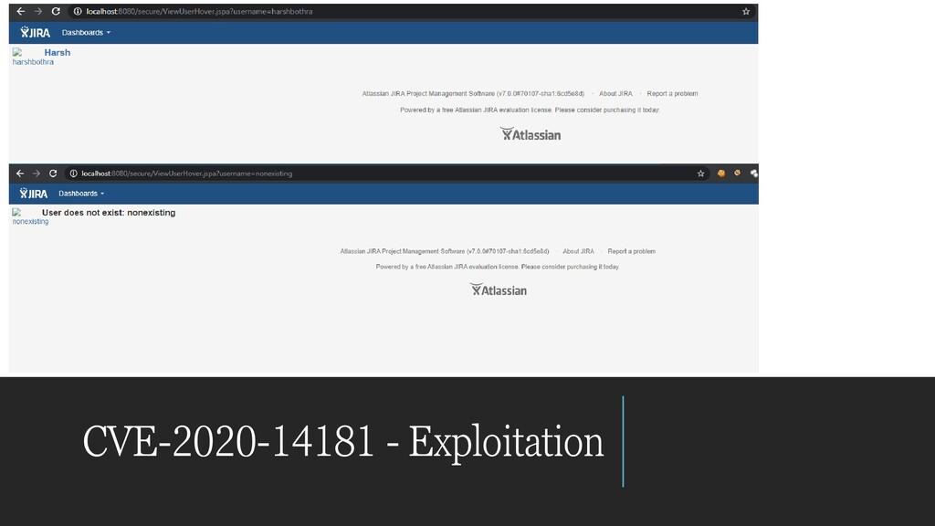CVE-2020-14181 - Exploitation