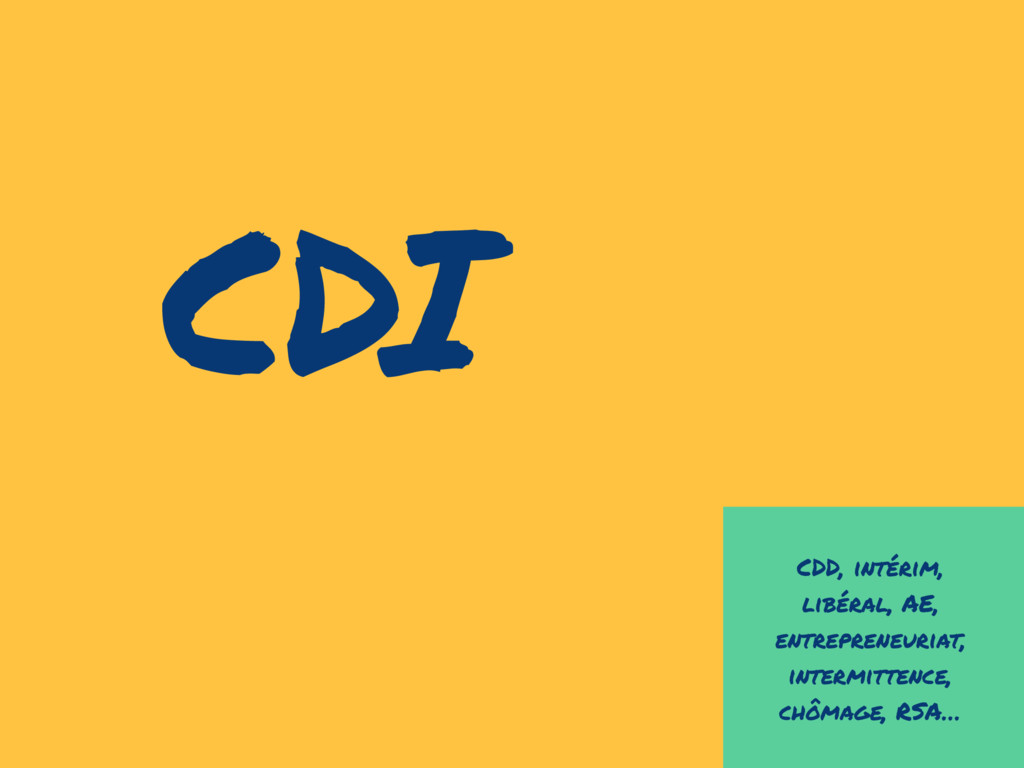 CDD, intérim, libéral, AE, entrepreneuriat, int...