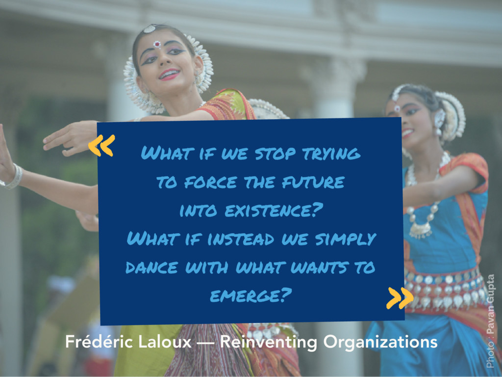 What if we stop trying to force the future  in...