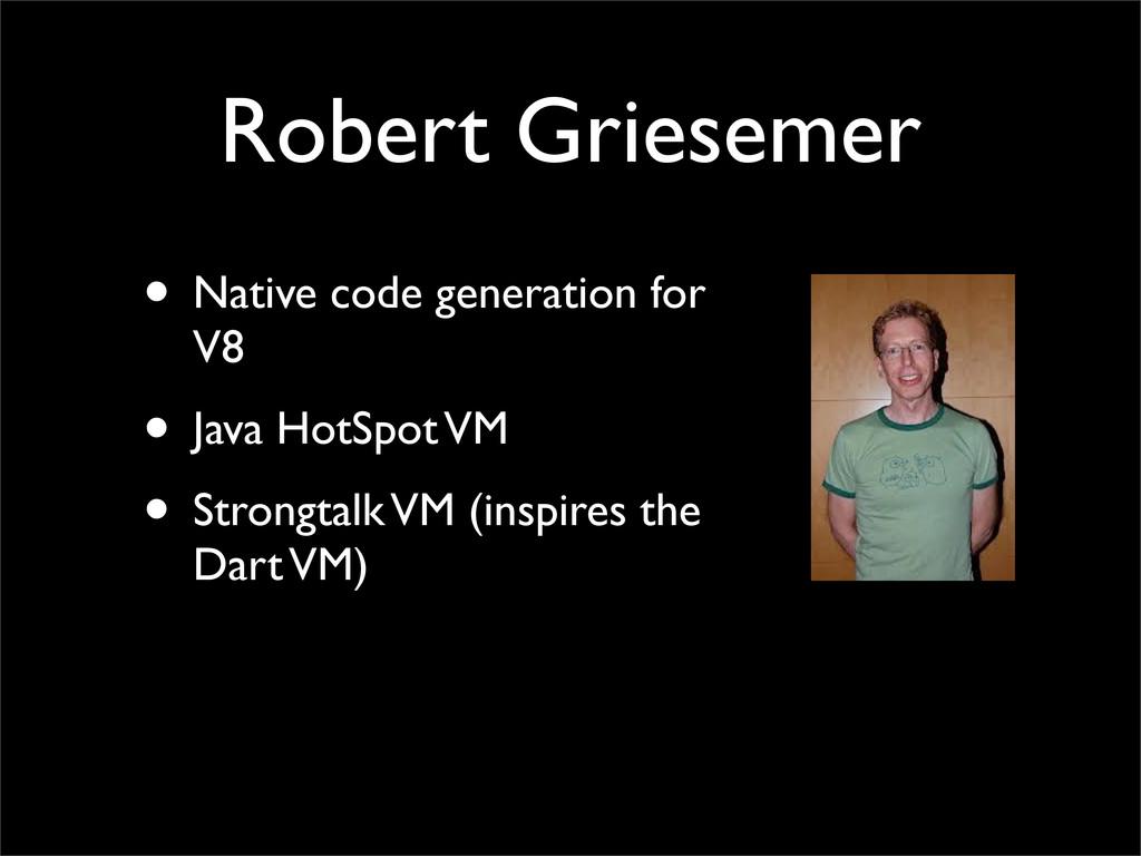 Robert Griesemer • Native code generation for V...