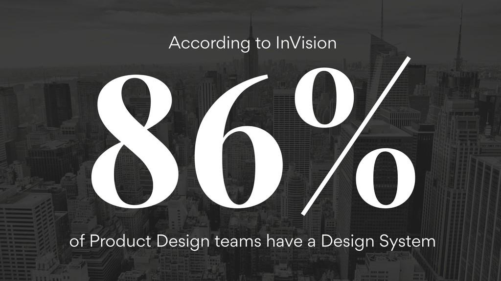86% According to InVision of Product Design tea...