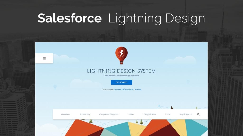 Salesforce Lightning Design