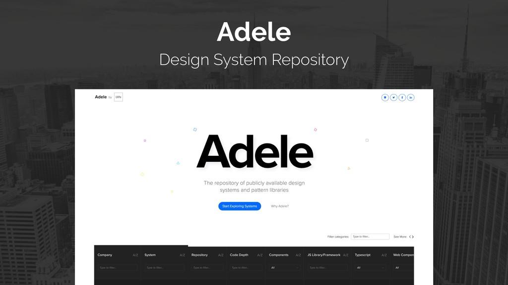 Adele  Design System Repository