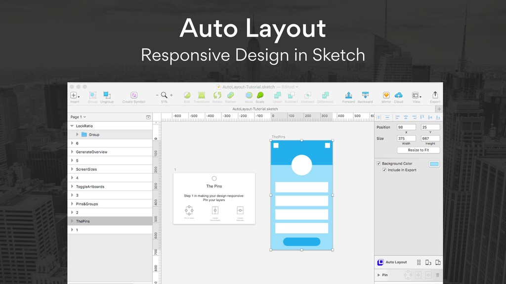 Auto Layout  Responsive Design in Sketch